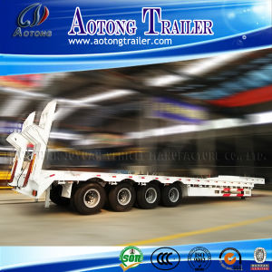 4 Axles 80tons Low Bed Semi Trailer for Africa pictures & photos