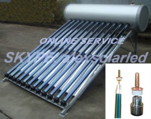 Drinkable Water Non-Freeze Heat Pipe Solar Water Heater with Ce Approval pictures & photos