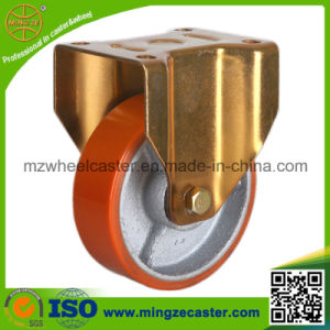 Industrial Rigid Caster with PU Wheel pictures & photos