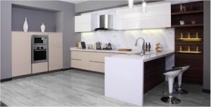 2017 Modern White Lacquer Kitchen Furniture (zx-058) pictures & photos