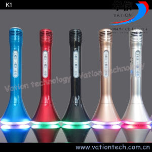 K1 Mini Handheld Karaoke Microphone Bluetooth Speaker pictures & photos
