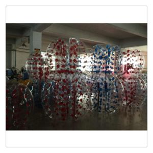 Best Seller Blue and Red Color Dots Inflatable Bubble Football Wholesale Price