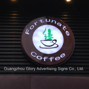 Illuminated Projected Round Light Box Sign pictures & photos