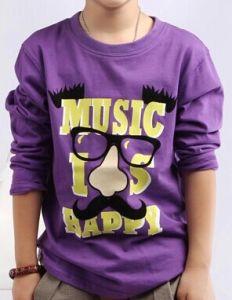2014 Children Fashion Short Sleeves Printed T-Shirt (YHR-13165)