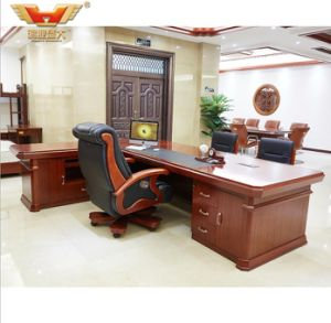Fashion Design Wooden Venner L Shape Desk Modern Office Furniture pictures & photos