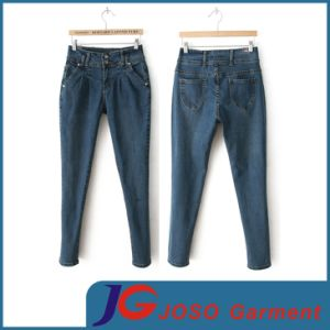 Fashion Women Pencil Denim Trousers (JC1334) pictures & photos