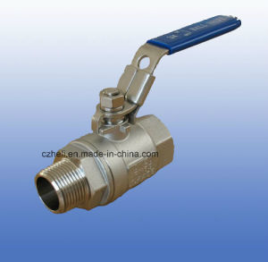 2PC Stainless Steel Ball Valve Male/Female with Handle Lock pictures & photos