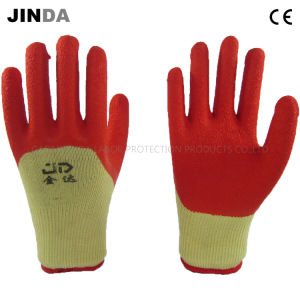 Latex Coated Crinkle Finish Industrial Labor Safety Work Gloves (LH501) pictures & photos