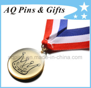 Custom Metal Medal with Epoxy & 3c Ribbon pictures & photos