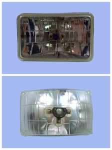 "4652 5"" Black Crystal Square Semi Sealed Beam Headlamp pictures & photos"