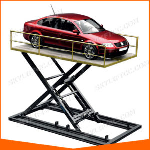 Double Cylinder Hydraulic Scissor Car Lift pictures & photos