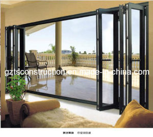 High Quality Double Glazed Energy Efficient Aluminium Folding Door pictures & photos