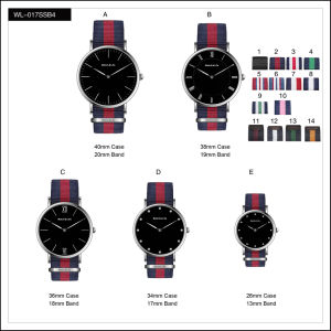Promotion Sport Stainless Steel Fashion Lady Men′s Watches Quartz Nylon Wrist Watch pictures & photos