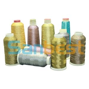 Gold Metallic Embroidery Thread with Polyester Core Yarn pictures & photos