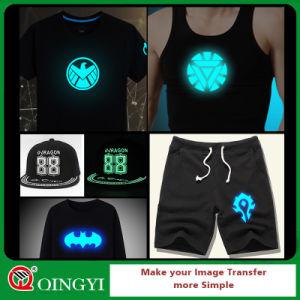 Qingyi Good Quality Glow in Dark Heat Transfer Vinyl for T-Shirt pictures & photos