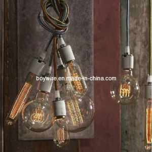 Kit-Fabric Power Cable with Ceramic Lamp Holder Edison Bulb pictures & photos