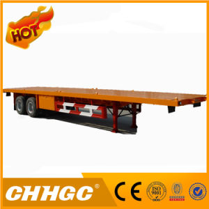 Carbon Steel 40FT Container Flatbed Semi Trailer for Sale pictures & photos