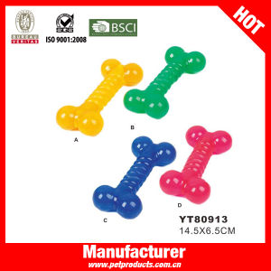 Bone Shape Soft Rubber Dog Toy (YT80913) pictures & photos