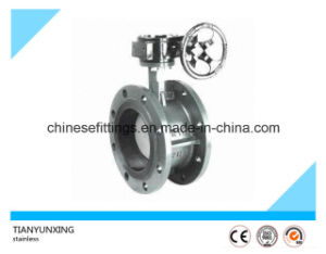 DIN/API Gearbox Double Flanged Eccentric Butterfly Valves pictures & photos