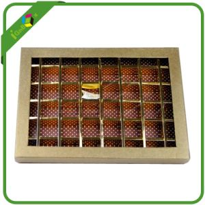 Food Packaging Chocolate Packing Box with Die-Cut PVC Window pictures & photos