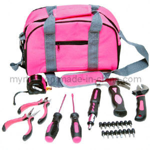 25PC Profssional Hand Tool Ladies Pink Tool Kit (FY1025B1) pictures & photos