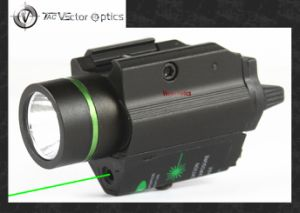 Vectop Optics Doublecross LED Pistol Flashlight Green Laser Combo Sight 200 Lumens Weapon Light Fit 1911 Glock pictures & photos