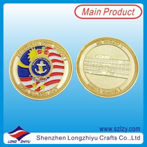 Souvenir Custom Coins Replica Gold Plating Medallion Coins, 3D Metal Souvenir Enamel Coins Military Challenge Malaysia Marine Corps Medallion Coins pictures & photos