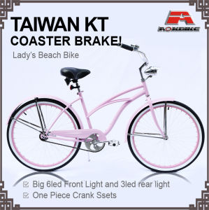 Lady City Coaster Brake Alloy Rim 26 Inch Beach Cruiser Bicycle (ARS-2684S) pictures & photos