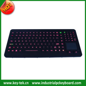 Rubber Keyboard with Sealed Touchpad and Backlight