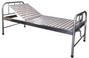 Stainless Steel One Crank Manual Hospital Bed (SK-MB126) pictures & photos