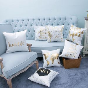 Foil/Gold&Silver Print Decorative Cushion/Pillow (MX-31) pictures & photos