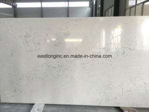 White Natural Surface Marble Looking Artificial Quartz Stone pictures & photos
