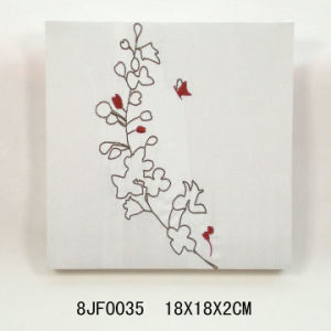 New Embroidery Fabric Wall Decoration with MDF pictures & photos