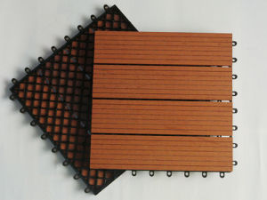 WPC Tile Flooring/Composite Bathroom Floor Tile pictures & photos