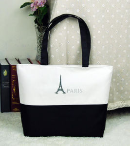 Gift Paper Nonwoven Shopping Bag Leather Cotton Canvas Handle Shopping Bag (X025)