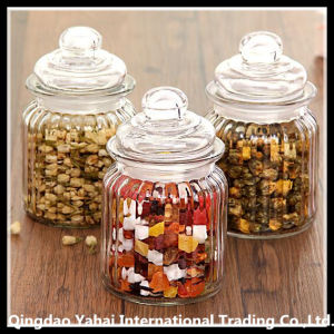 3 Pieces Clear Faceted Jar / Clear Glass Bell Jar pictures & photos