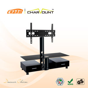 High Quality Tempered Glass & MDF Modern Universal TV Stand (CT-FTVS-N102WB) pictures & photos