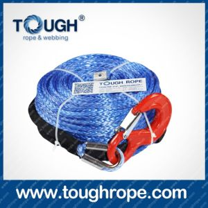 Tr-01 Forestry Winch Dyneema Synthetic 4X4 Winch Rope with Hook Thimble Sleeve Packed as Full Set pictures & photos