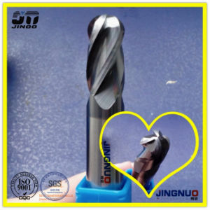 4 Flutes HRC55 Grain Size 0.6um Solid Carbide Ball Nose Stainless Steel End Milling Cutter pictures & photos