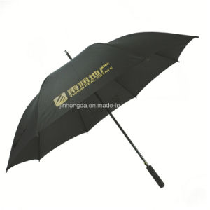 "27"" Black Advertising Promotional Stick Golf Umbrella (YSS0114) pictures & photos"