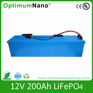 12V 200ah Solar Battery (LiFePO4) with PCM and Charger pictures & photos