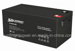 SBB Brand 12V250ah Rechargeable Deep Cycle Solar AGM Battery pictures & photos