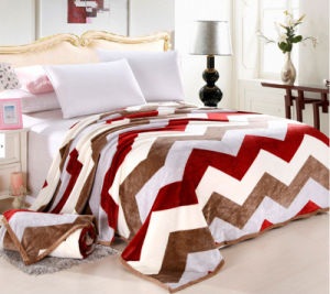 Super Soft Printed Flannel Blanket (HZS---335)