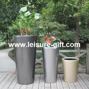 Round Fiberglass Self-Watering Flower Pots (FO-332) pictures & photos