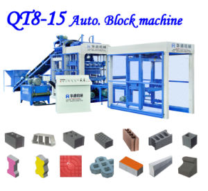 ISO Approved Qt8-15 Concrete Block Machine for Automatic Block Machine Production Line