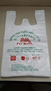 Printed HDPE White T-Shirt Bag Shopping Bag pictures & photos
