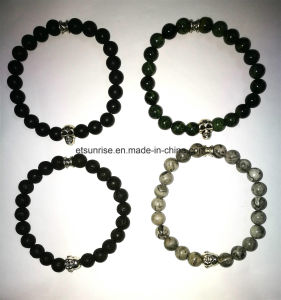 Semi Precious Stone Buddha Skull Bracelet pictures & photos