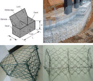 PVC Coated Hot Dipped Galvanized Gabion Box/Cage pictures & photos