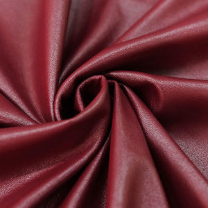 Elastic Fabric Soft PU Imitation Leather for Garments Pants Jackets
