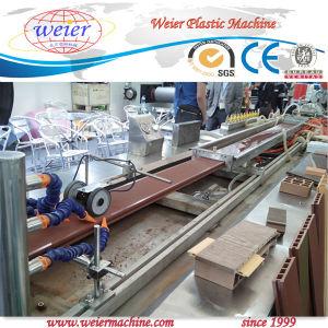 PP PE PVC Wood Plastic Composite Profile Production Line pictures & photos